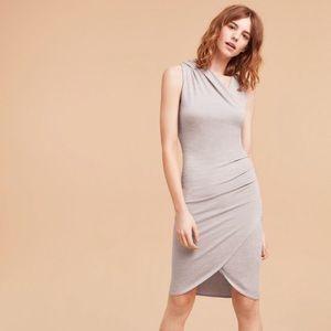 Aritzia Wilfred Free Gray Izadora faux Wrap Dress